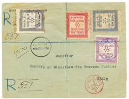 1893 1d + 1 1/2d+ 2 1/2d+ 10d Canc. RAROTONGA On REGISTERED Envelope To PARIS (FRANCE). Scarce. Vvf. - Cook