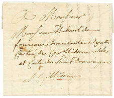 1767 Entire Letter From PARIS (FRANCE) To CAP THIBERON , SAINT DOMINGUE. Vvf. - Haïti