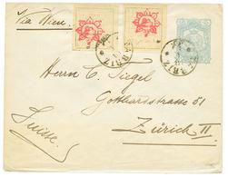 PERSIA : 1902 P./Stationery + 1c (x2) Canc. TABRIZ To To SWITZERLAND. Vvf. - Iran