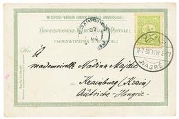 1903 TURQUIE 10p Canc. NASRE On Card (GruSS NAZARETH) To HUNGARY. Superb. - Palestine