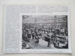 BOULOGNE -  Finition Des Moteurs D'avion Renault  -  Coupure De Presse De 1931 - GPS/Avionique