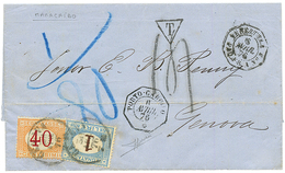 """""""MARACAIBO Via PORTO-CABELLO"""" : 1876 French Cachet PORTO-CABELLO + VENEZUELA PAQ FR A On Entire Letter Datelined """"MARACA - Venezuela"""
