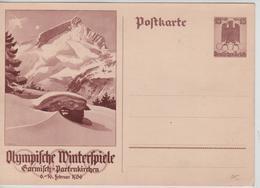 227PR/  Deutsches Reich Ganz.Pk Olympische Winterspiele 6-16 Februar 1936 Garmisch - Partenkirchen  MINT - Winter 1936: Garmisch-Partenkirchen