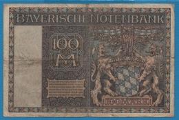 BAYERISCHE NOTENBANK 100 MARK 01.01.1922 # C234323 P# S923 - [11] Local Banknote Issues
