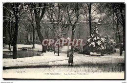 CPA Grenoble Le Jardin De Ville L Hiver - Grenoble