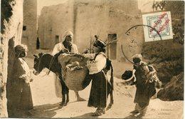 MAROC ESPAGNOL CARTE POSTALE -RESTAURANT AMBULANT AVEC OBLITERATION - Spanish Morocco
