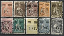 Portugal 1928-29  Cérès Surchargé Scott N° 453*,454*,460*,470* Et 457,459,467,468,472,479 Oblitérés - 1910-... Republic