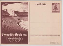 231PR/ Deutsches Reich Ganz.Pk Olympische Spiele 1936 Berlin 1-16 August - Sommer 1936: Berlin