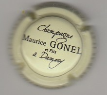 Capsule Champagne Gonel Maurice N° 23 Creme Et Noir - Champagne