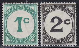 BRITISH GUYANA 1940 Postage Due 1c And 2c Ordinary Paper MNH - Guyana Britannica (...-1966)