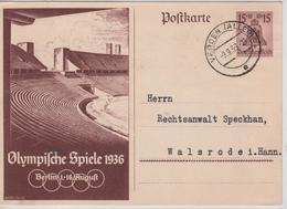 232PR/ Deutsches Reich Ganz.Pk Olympische Spiele 1936 Berlin 1-16 August  C.Verden 9/9/36 > Walsrodei.Hann - Sommer 1936: Berlin