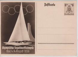 233PR/ Deutsches Reich Ganz.Pk Olympische Spiele 1936 Segelwettkämpfe MINT - Sommer 1936: Berlin
