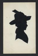 CARTE SILHOUETTE * SILHOUETKAART * FEMME AVEC CHAPEAU * DECOUPEE * WOMAN WITH HAT * - Silhouettes