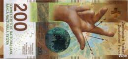 Suisse 200 Francs (P78) 2016a (Pref: A) -UNC- - Suiza