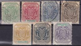 BRITISH COLONIES TRANSVAAL 1895-96 Set Of 7v Used / 5v Used + 1s And 2/6s MH - Africa Del Sud-Ovest (1923-1990)