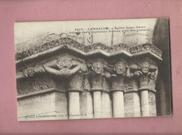 CPA- Lamballe - Eglise Notre Dame - Détails Des Chapiteaux Roman D'un Des Portails - Lamballe