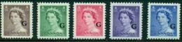 """-Canada -1953-""""Karsh Portrait""""-Definitives- MNH (**) Overprinted  'G' - Overprinted"""