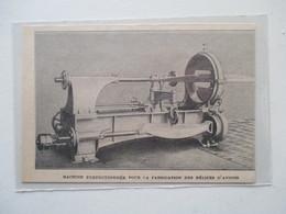 France  - Machine Perfectionnée  Fabrication Des Hélices D'avions    -  Coupure De Presse De 1922 - GPS/Avionique