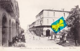PHILIPPEVILLE - Perspective De La Rue Nationale - Carte Très Animée - Skikda (Philippeville)