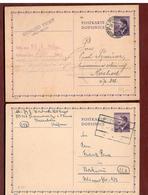 ZweiGS 1942 Stempel Und Kartonfarben - Besonderheiten - Briefe U. Dokumente