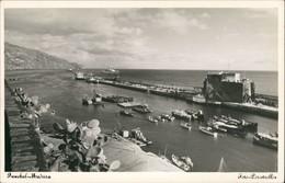 Funchal Foto-Perestrellas Hafen Harbour Scene Panoramic View 1950 Privatfoto - Portugal