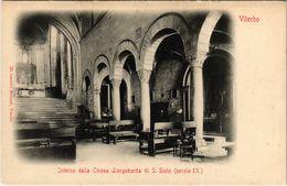 CPA VITERBO Interno Della Chiesa Longobarda Di S.Sisto ITALY (800534) - Viterbo