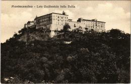 CPA MONTECASSINO Lato Occidentale Della Bavia ITALY (800985) - Italia