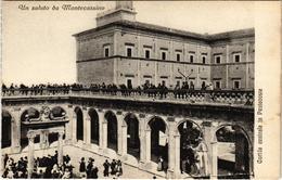 CPA Un Saluto Da MONTECASSINO Cortile Centrale In Pentecoste ITALY (802465) - Italia