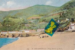 PHILIPPEVILLE - Plage Mollo De Stora - Carte Colorée - Skikda (Philippeville)