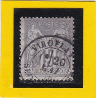 SAGE N° 77  Type IIB + CACHET A DATE - VIROFLAY- YVELINES - 20 MAI 1878   - REF 10337 - 1876-1898 Sage (Type II)