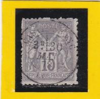 SAGE N° 77  Type IIB + CACHET A DATE - CASTELFRANC - LOT -30 MAI 1878  - REF 10337 - 1876-1898 Sage (Type II)