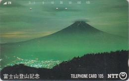 TC JAPON / NTT 290-171 A - Paysage Montagne - MONT FUJI - Mountain Landscape JAPAN Phonecard - Volcans
