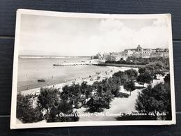 OTRANTO ( LECCE ) VILLA COMUNALE  PANORAMA DEL PORTO  1956 - Lecce