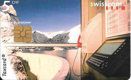 CARTE-PUCE-SUISSE-5CHF-GEM2-12/98-TAXCARD-BARRAGE EMOSSON-TBE - Schweiz