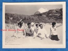 Photo Ancienne Snapshot - Vers PLOUMANACH - Portrait De Vacances - Fille Garçon Bretagne Cotes D' Armor Perros Guirrec - Pin-up