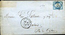 N° 60 25c Cérès GC 1007 LE CHESNE TYPE 17 15 Février 75 Pour Calais TB - 1849-1876: Période Classique