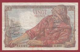 "20 Francs ""Pêcheur"" Du 19/05/1949.F-----VG/TTB--ALPH.E.222 - 20 F 1942-1950 ''Pêcheur''"