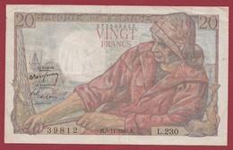 "20 Francs ""Pêcheur"" Du 03/11/1949.B-----F/TTB+--ALPH.L.230 - 20 F 1942-1950 ''Pêcheur''"