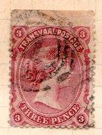 TRANSVAAL - (Occupation Anglaise Pendant La 1ère Guerre Anglo-boër) - 1878-80 - N° 63 - 3 P. Lie-de-vin - Sud Africa (...-1961)