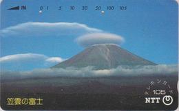 TC JAPON / NTT 290-175 A - Paysage Montagne - MONT FUJI TBE - Mountain Landscape JAPAN Phonecard - Volcans