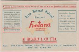 8873.   Agua Mineral Natural E Guaranà  Fontana - Rio De Janeiro - M. Piccaglia & Cia Ltda - Pubblicitari