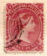 TRANSVAAL - (Occupation Anglaise Pendant La 1ère Guerre Anglo-boër) - 1878-80 - N° 63 - 3 P. Lie-de-vin - South Africa (...-1961)