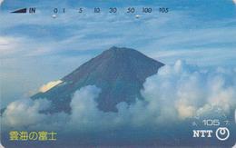 TC JAPON / NTT 290-176 A - Paysage Montagne - MONT FUJI TBE - Mountain Landscape JAPAN Phonecard - Volcans