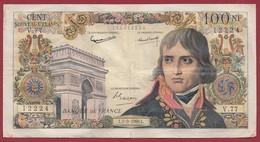 """100 NF """"Bonaparte"""" Du 01/09/1960.L----VG/TTB--ALPH.V.77---COUPURE A 17H30 - 100 NF 1959-1964 ''Bonaparte''"""