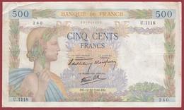 """50 Francs """"La Paix""""--du 17/10/1940.DO----F/TTB+--ALPH.U.1118 - 1871-1952 Anciens Francs Circulés Au XXème"""