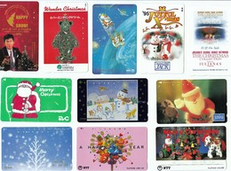 Japan, 11x Christmas, Santa, Noêl, Navidad - Giappone