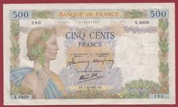 """50 Francs """"La Paix""""--du 01/10/1942.AR----F/TTB+--ALPH.X.6809 - 1871-1952 Anciens Francs Circulés Au XXème"""