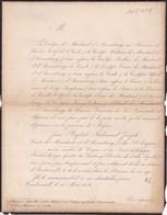 AMSTENRAEDT Jean-Baptiste Comte  De MARCHANT Et D'ANSEMBOURG 73 Ans 1854  Congrès National SENAT - Décès