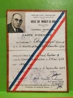 France, Carte D'identité. MARLY LE ROI 1953. Conseiller Municipale - Documenti Storici