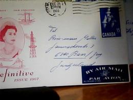 CANADA  FIRST DAY  15 CTDEFINITIVE ISSUE 1966 HK4833 - 1952-.... Regno Di Elizabeth II